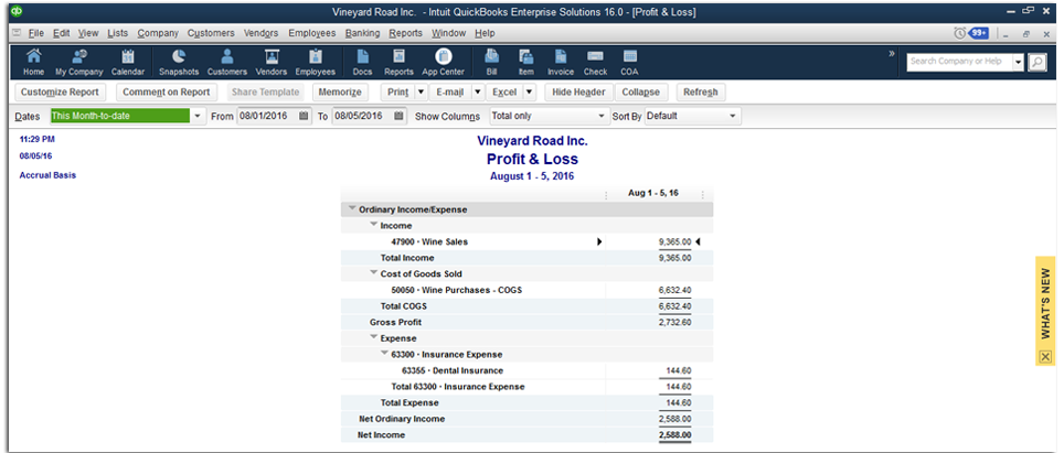 quickbooks p l report to database export dbsync cloud workflow