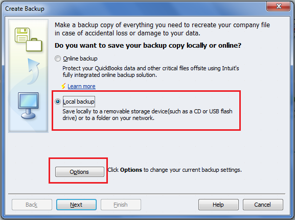 how to open a quickbook backup file